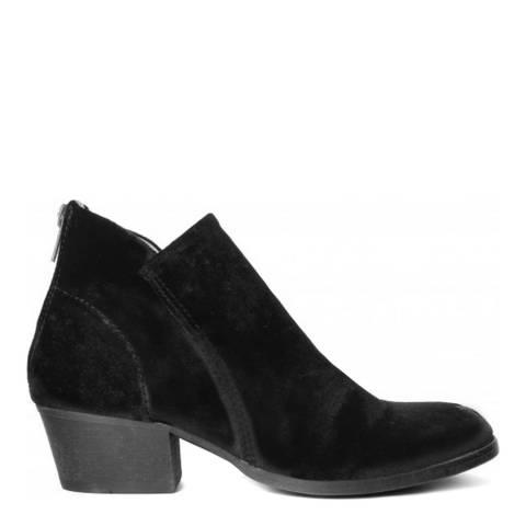 Hudson Black Velvet Apisi Ankle Boots