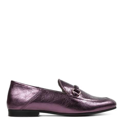 Hudson Metallic Purple Leather Arianna Loafers