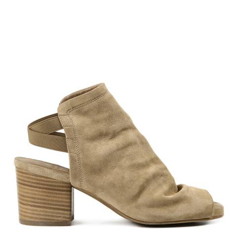 Hudson Camel Suede Haiti Peep Toe Backless Ankle Boots