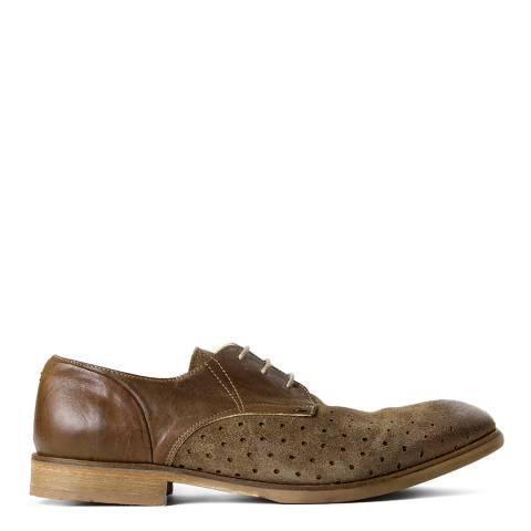 Hudson Tobacco Leather/Suede Rogers Derby Shoes