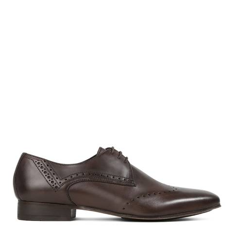 Hudson Dark Brown Leather Erato Brogue Shoes