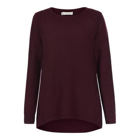Hobbs London Red Merino Wool Elissa Jumper