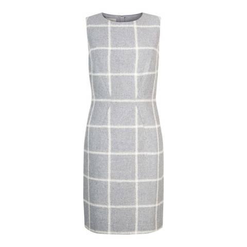 Hobbs London Grey/White Check Cherre Dress