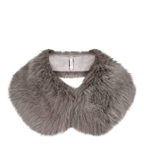 Hobbs London Silver Faux Fur Annie Collar