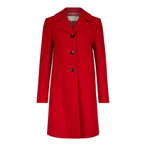 Hobbs London Red Wool Blend Mia Coat
