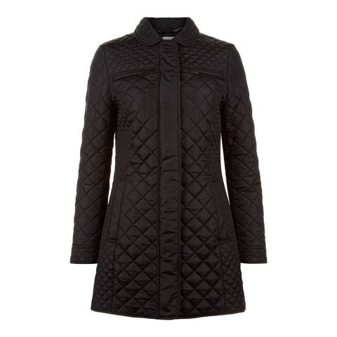 Hobbs London Black Padded Roberta Long Jacket