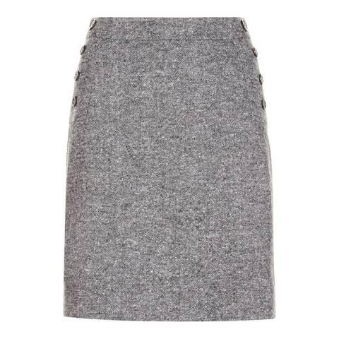 Hobbs London Grey Wool Blend Janelle Skirt