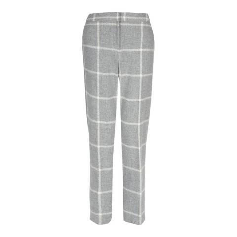 Hobbs London Grey Checked Rosemary Trousers