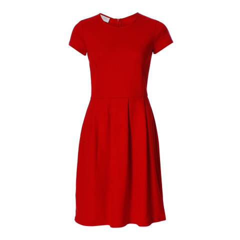 Hobbs London Red Cotton Karen Dress