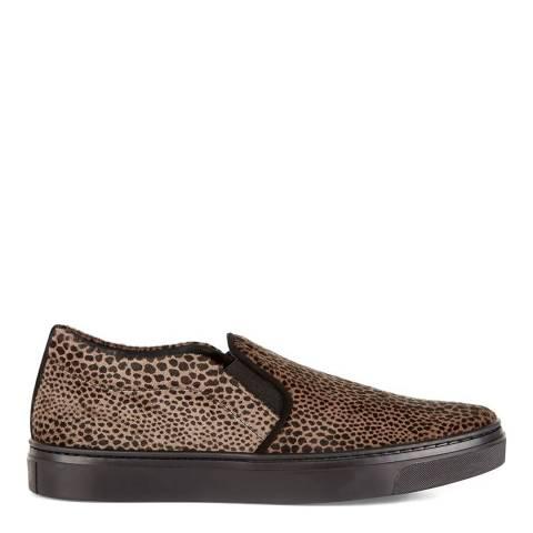 Hobbs London Brown Leopard Print Gwen Sneaker