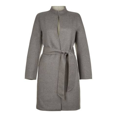 Hobbs London Grey Wool Blend Daena Coat