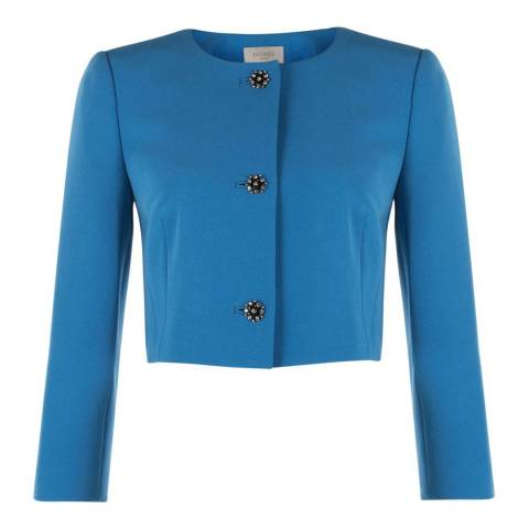 Hobbs London Blue Cropped Gigi Jacket