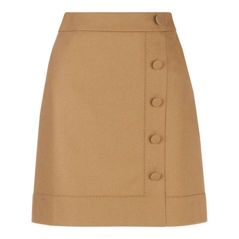 Hobbs London Beige A line Frances Skirt