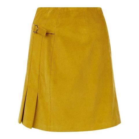 Hobbs London Green Cord Judith Skirt