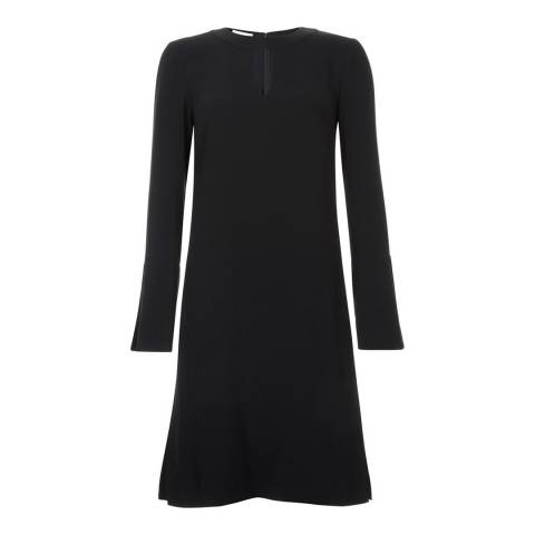 Hobbs London Black Flute Sleeves Florella Dress