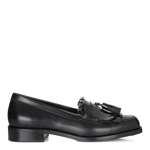 Hobbs London Silver Metallic Leather Stefania Loafer