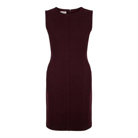 Hobbs London Red Wool Sleeveless Mariette Dress