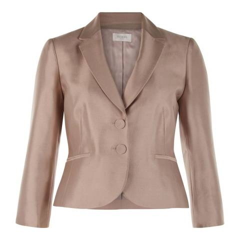 Hobbs London Beige Wool and Silk Dalilah Jacket