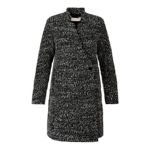 Hobbs London Charcoal Wool Blend Elody Coat
