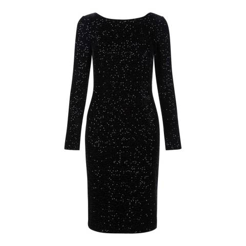 Hobbs London Black Sequined Sawyer Dress