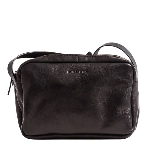 Forbes & Lewis Black Leather Sara Shoulder Bag