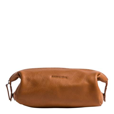 Forbes & Lewis Tan Leather Washington Wash Bag