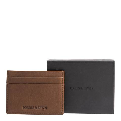 Forbes & Lewis Tan Leather Cardiff Card Holder