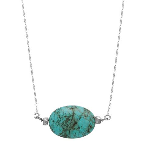Alexa by Liv Oliver Silver And Turquoise Studded Necklace