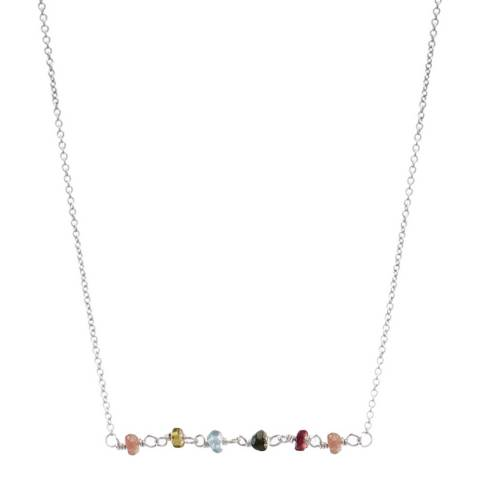 Alexa by Liv Oliver Sterling Silver Multi Tourmaline Gemstone Necklace