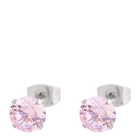 Alexa by Liv Oliver Pink Crystal Stud Earrings