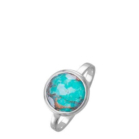 Alexa by Liv Oliver Silver/Turquoise Ring