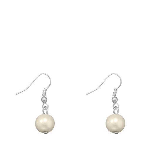 Alexa by Liv Oliver Silver Pearl Drop Earrings