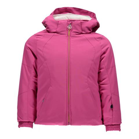 Spyder Girl's Pink Bitsy Radiant Hooded Jacket