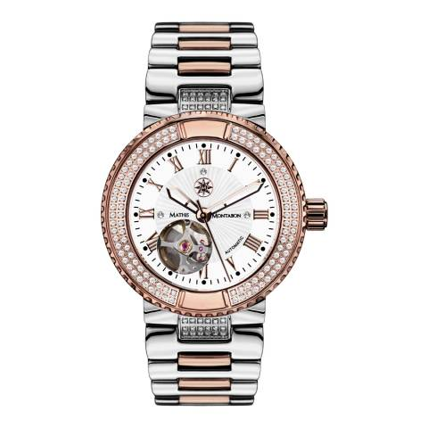 Mathis Montabon Womens Rose Gold/White Bicolor Reveuse Watch