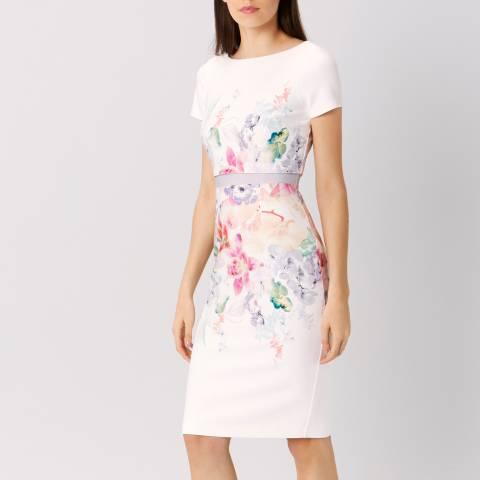 Coast Cream Floral Abbey Print Shift Dress