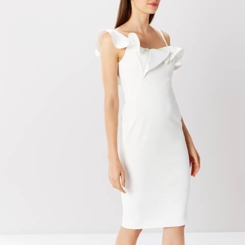 Coast White Clancy Ruffle Shift Dress