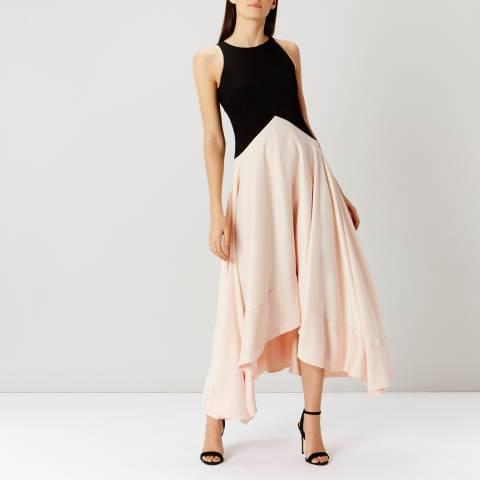 Coast Black/Blush Lea Soft Maxi Dress