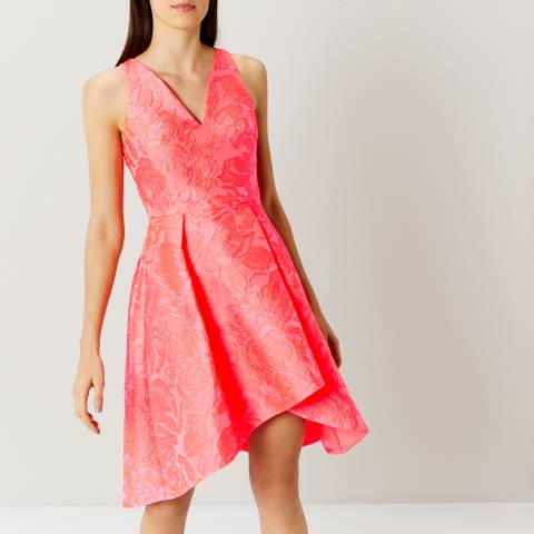 Coast Pink Sylvie Neon Jacquard Dress
