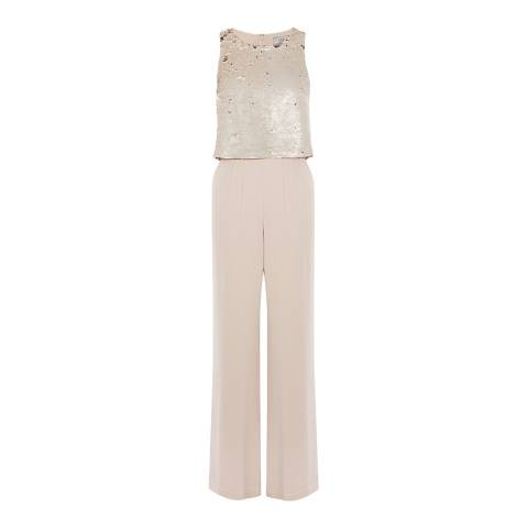 Coast Beige Lenox Sequin Jumpsuit