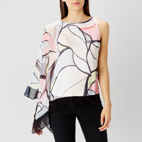 Coast Multi Coloured Malacon Asymetric Top