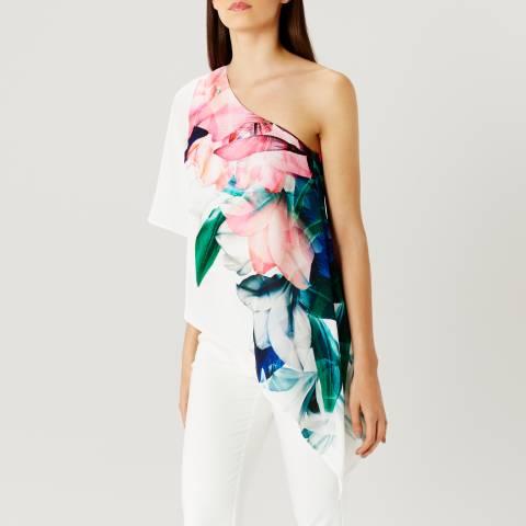 Coast White/Floral Lena One Shoulder Top