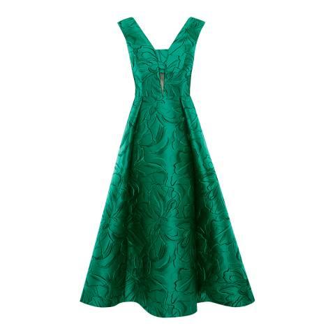 Coast Green Maya Jacquard Dress
