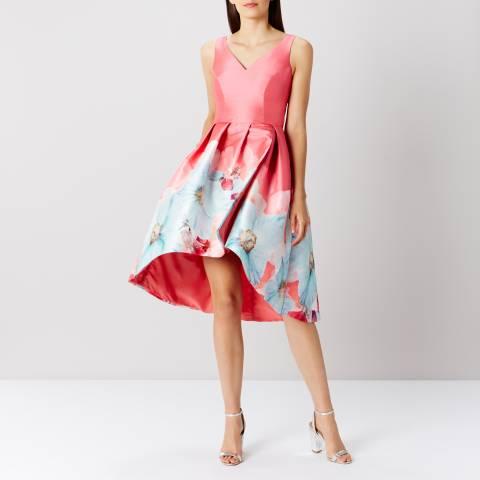 Coast Peachy Coral Sophie Printed Midi Dress