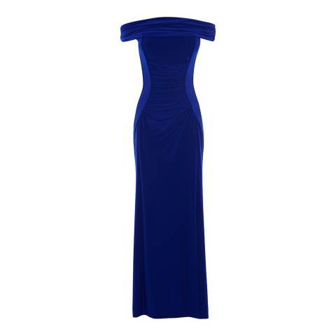 Coast Blue Shay Jersey  Bardot Maxi Dress