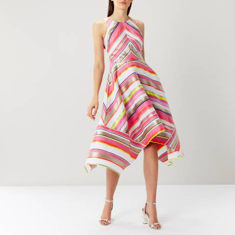 Coast Pink/Multi Bossa Nova Stripe Midi Dress