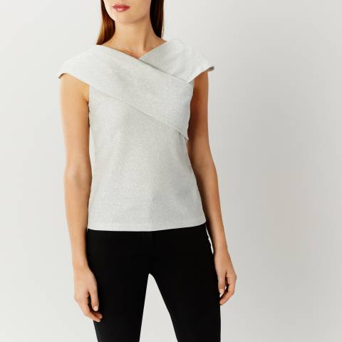Coast Silver Effie Metallic Top