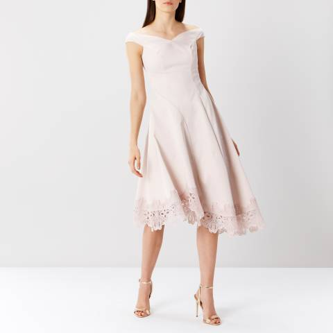 Coast Blush Carole Lace Hem Dress