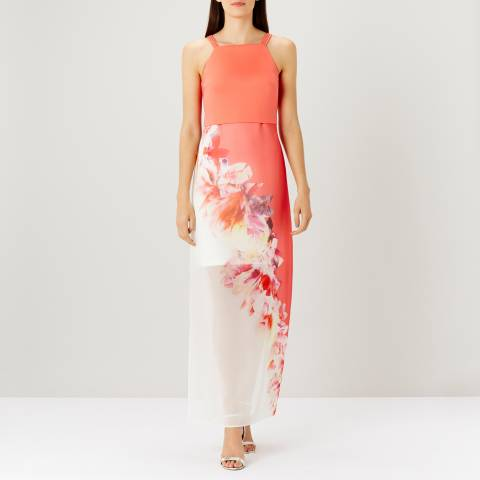 Coast Coral Camara Printed Maxi Dress