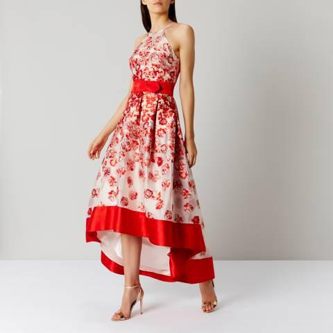 Coast Red Charron Jacquard Dress