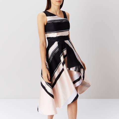 Coast Black/Blush Columbus Stripe Midi Dress